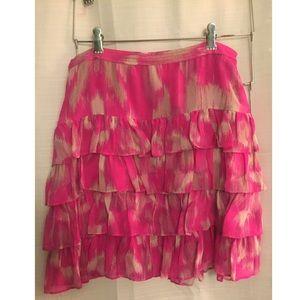 Ruffle Skirt with Silk Lining